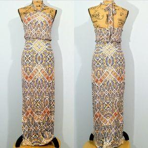 Cynthia Rowley Mandala Print Maxi Dress XS